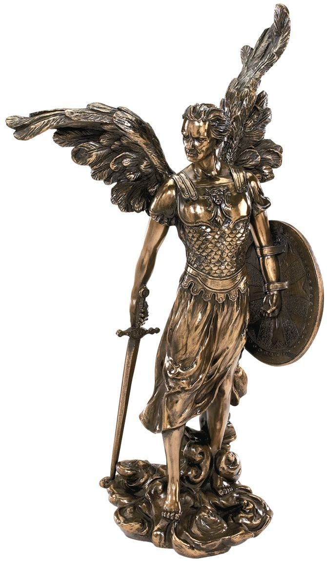 Archangel sculpture BY ARTIST NAMED RAPHAEL.
