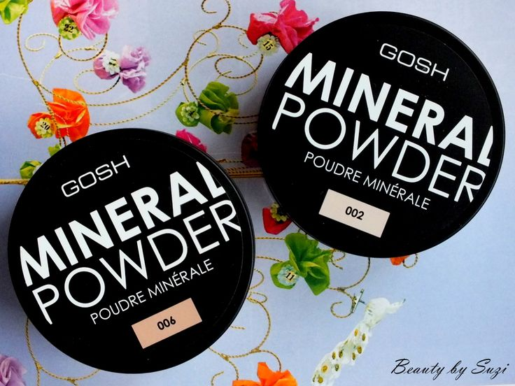 GOSH Mineral Powder, 002 Ivory & 006 Honey #goshcosmetics