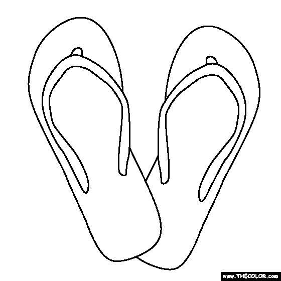 Flip Flops Coloring Page Pages Pinterest