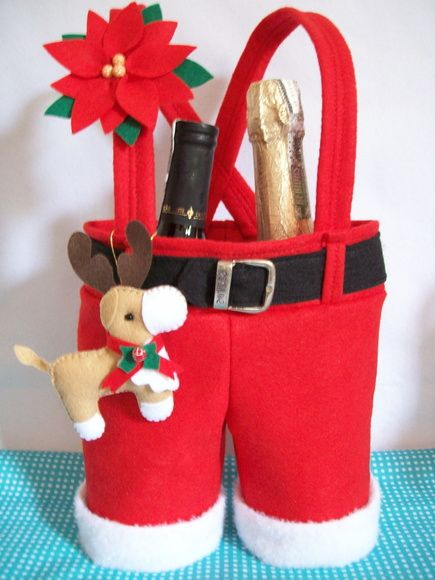 santa pants for bottles