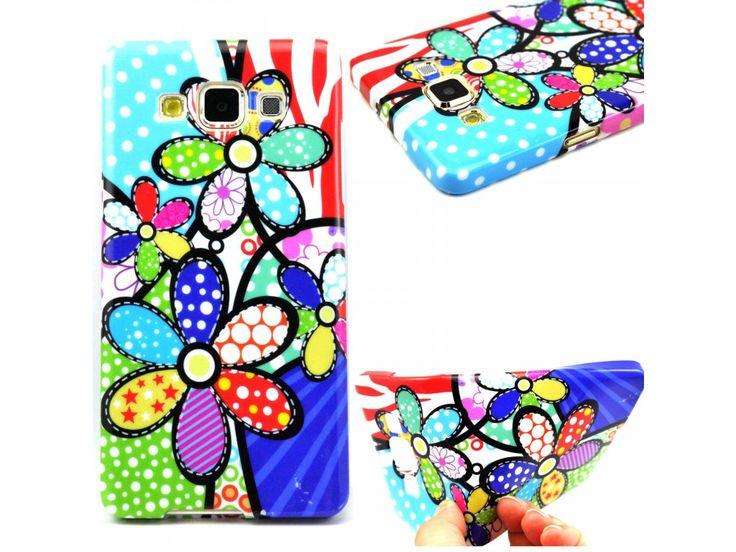 Silikónový kryt (obal) pre Samsung Galaxy Alpha - kvety