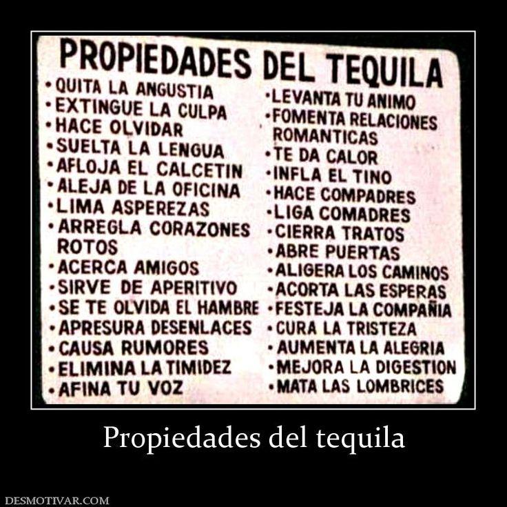 Desmotivaciones Propiedades del tequila