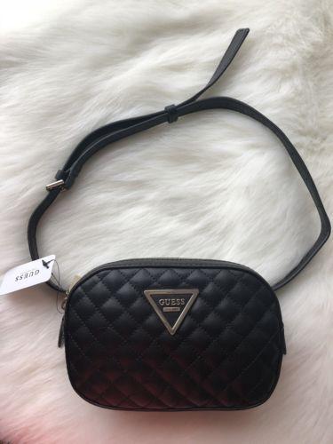 21d3147057 NWT Guess Varsity Pop Mini Belt Bag Black Fanny Waist Bag