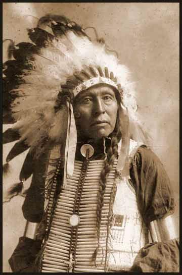 Native American in Headdress