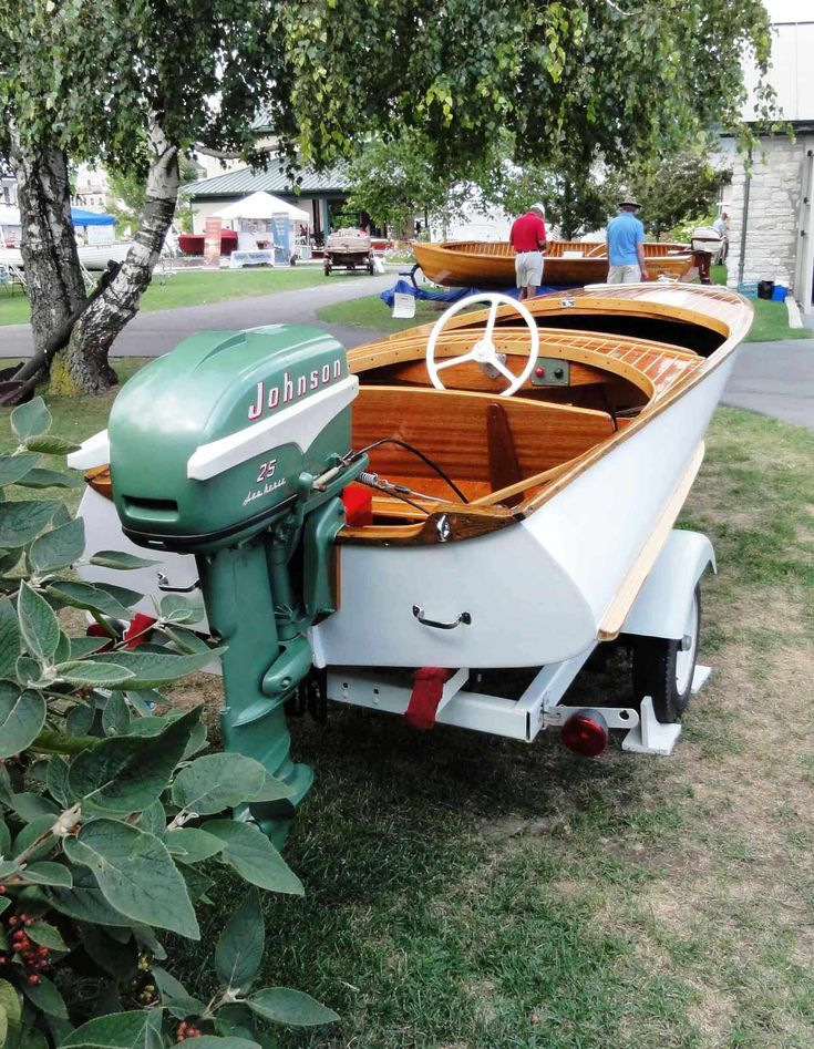 14 1955 penn yann swift with matching 1955 johnson sea for 4 horse boat motor