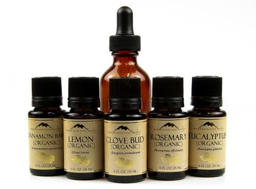 Recipe to make Thieves oil from your single scent oils. You need Clove Bud, Lemon, Cinnamon Bark, Eucalyptus, and Rosemary. (Plus one anti-microbial, essential oil, like Tea Tree, Lavender, or Cedar.)   Good to know - since I already have most of these singles!
