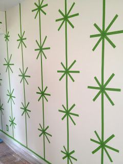 adventures of an almost 40 year old intern...: d.i.why not? fab striped starburst walls--taped off with frog tape