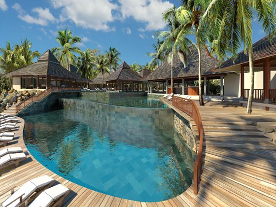 46 best indian ocean hotels resorts images on pinterest for Swimming pool mauritius