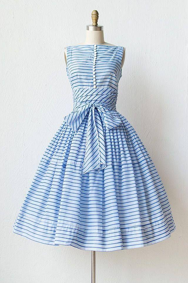 #vintage style blue #dress