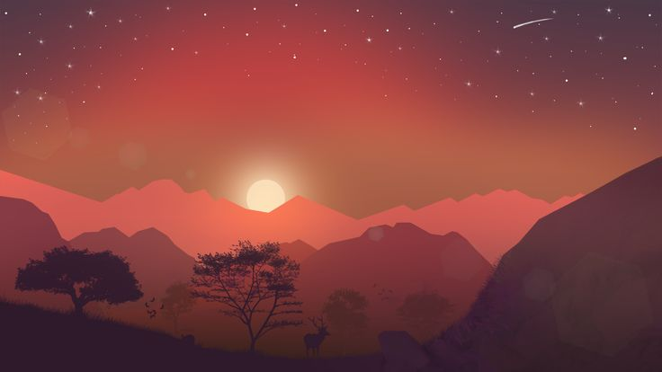 #mountain #sun #rise #tree #silhuettes #falling #stars #landscape #tosaymorninginagoodway #riotofcolors