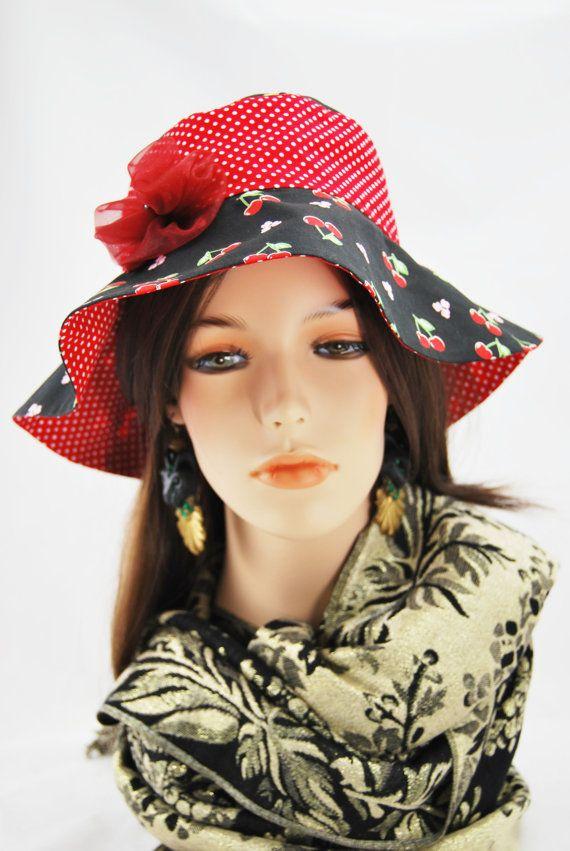 Cherry & Red Flower Girl's Sunhat
