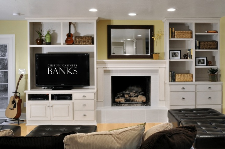 White Entertainment Center Either Side Of Our Fireplace Living Room Inspiration Bedroom