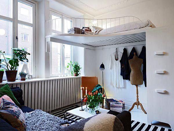 loft bed with storage below for teen room idea