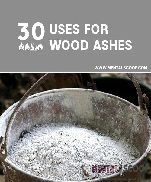 30 Uses for Wood Ashes If you've got a fireplace or fire pit full of wood ashes and would like to fi