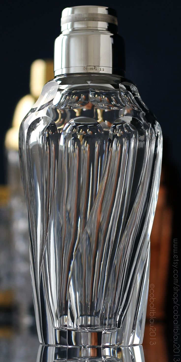 Silver & Crystal Cocktail Shaker