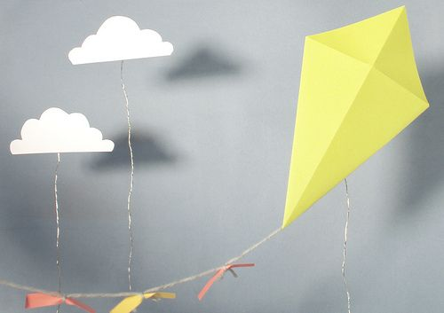 i love kites and the clouds!