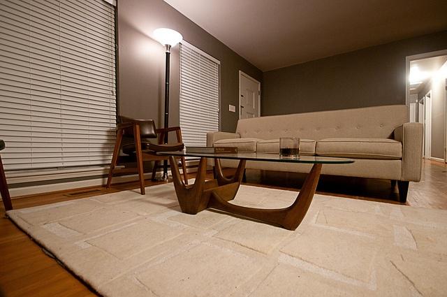 Corona Sofa + Adrian Pearsall Coffee Table.  Perfect mid century modern set up.