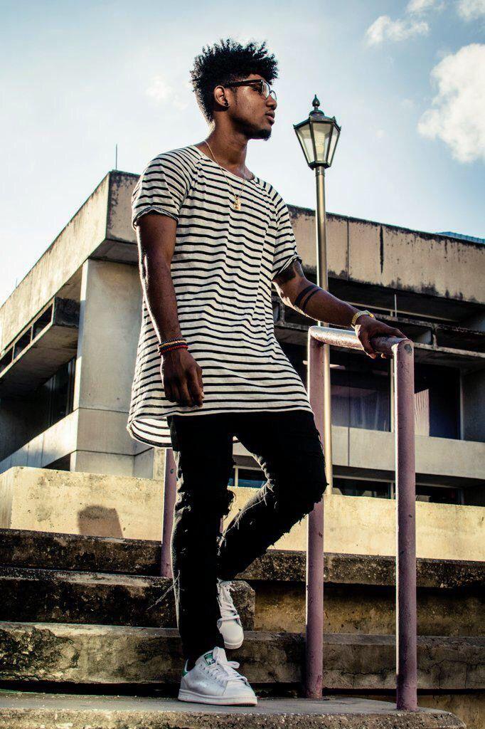 Dicas para camisas e camisetas com listras Black White | Estilo Black - Moda para Homens Negros