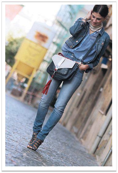 Denim look (by Belén @B a la moda) http://lookbook.nu/look/3786211-Denim-look