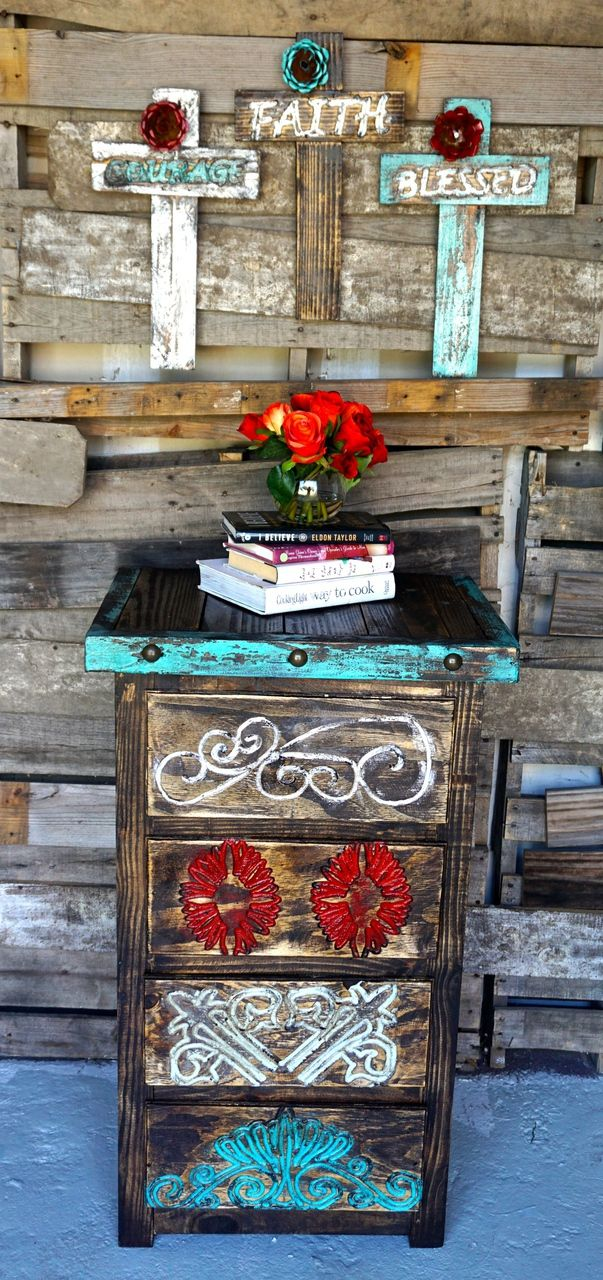 Nativo Tall Side Table - Sofia's Rustic Furniture