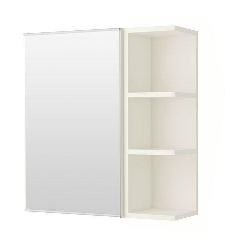 "IKEA LILLÅNGEN    Mirror cabinet 1 door/1 end unit, white      $69.99  Width: 23 5/8 ""  Depth: 8 1/4 ""  Height: 25 1/4 """