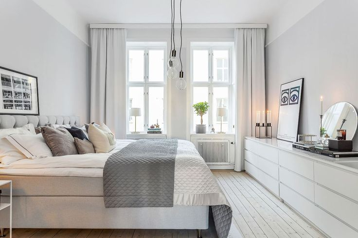Scandinavian bedroom with Malm dressers