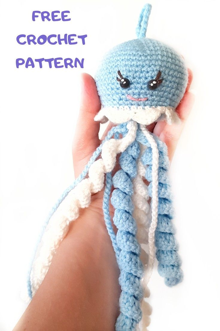 Crochet Jellyfish - 14 Free Crochet Patterns ⋆ DIY Crafts | 1102x735