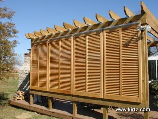 Diy bahama shutters woodworking projects plans for Privacy shutters for deck
