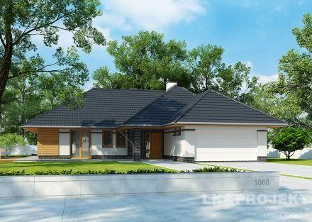 Projekty domov LK Projekt LK-1066 Predné obrázok