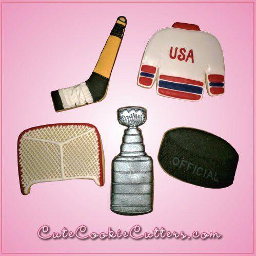 Hockey Cookie Cutter Set