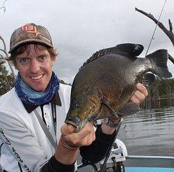 Sooty Grunter, photo courtesy of Nicholas Moore. #Sooty #fishing #Eungelladam