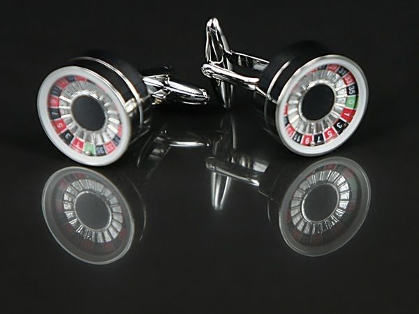 Working Roulette Wheel Cufflinks - www.cufflinked.com.au