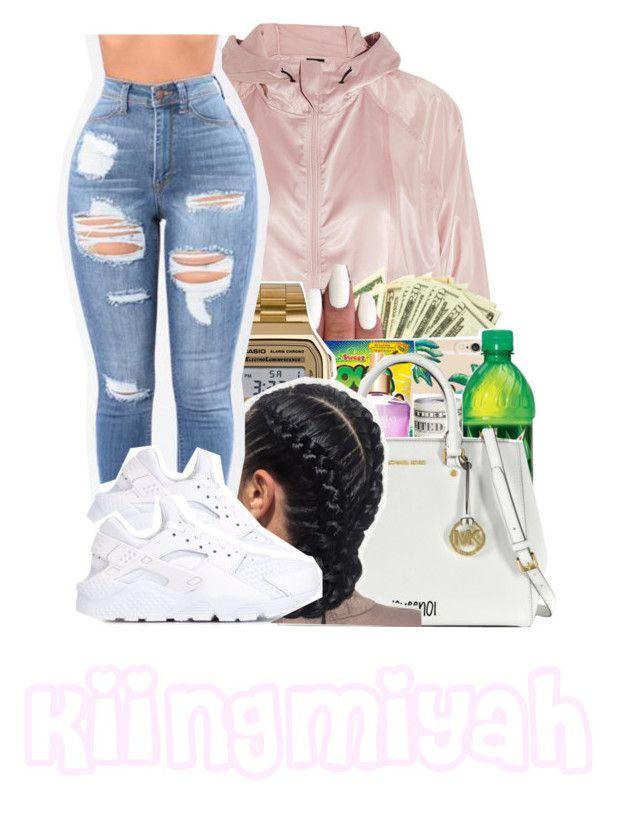 """Slow it downn"" by kiingmiyah ❤ liked on Polyvore featuring NIKE and American Apparel"