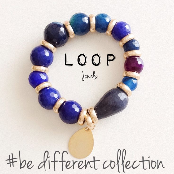 LooP Jewels  Beads elastic bracelet