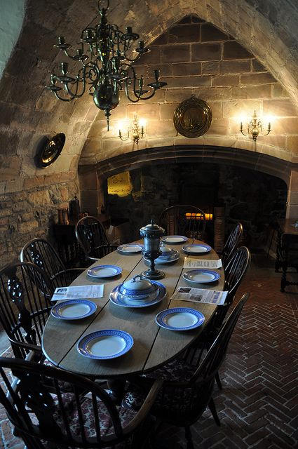 The Dining Room Lindisfarne Castle Holy Island Northumberland. Not a cottage but cottage cozy!
