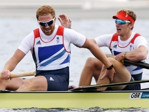 William Satch (l) and George Nash- Team GB - Bronze in the men's coxless pairs.