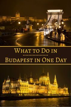 Travel the World: What to do in Budapest in one day, whether you're in Budapest for 24 hours or on a European river cruise. #Budapest #Hungary #travel  Know someone looking to hire top tech talent? Email me at carlos@recruiting...