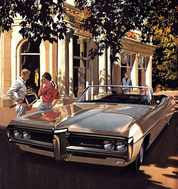 "1968 Pontiac Bonneville Brougham Convertible - 'Love All': Art Fitzpatrick and Van Kaufman - ""I really did this as an exercise in making a white car look shiny,"" Fitzpatrick says. ""In the sun, a white car is a white blob. In shadow or shade, you get reflections, and that's what makes a car look shiny. I left just enough sun on it to make it white, not gray."""