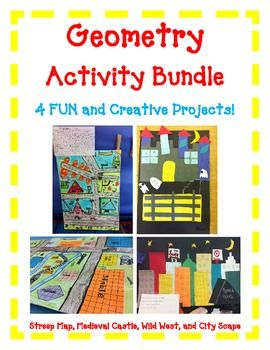 Geometry Activity BUNDLE- Includes 4 FUN Hands-On Projects - http://www.teacherspayteachers.com/Product/Geometry-Activity-BUNDLE-Includes-4-FUN-Hands-On-Projects#