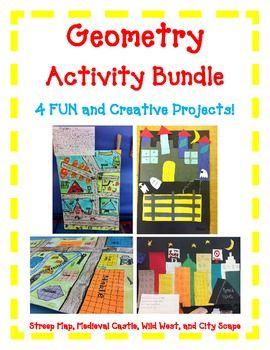 Geometry Activity BUNDLE- Includes 4 FUN Hands-On Projects - http://www.teacherspayteachers.com/Product/Geometry-Activity-BUNDLE-Includes-4-FUN-Hands-On-Projects#