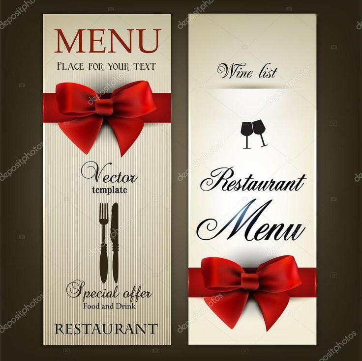 Дизайн меню для ресторана или кафе. Винтаж Векторный шаблон