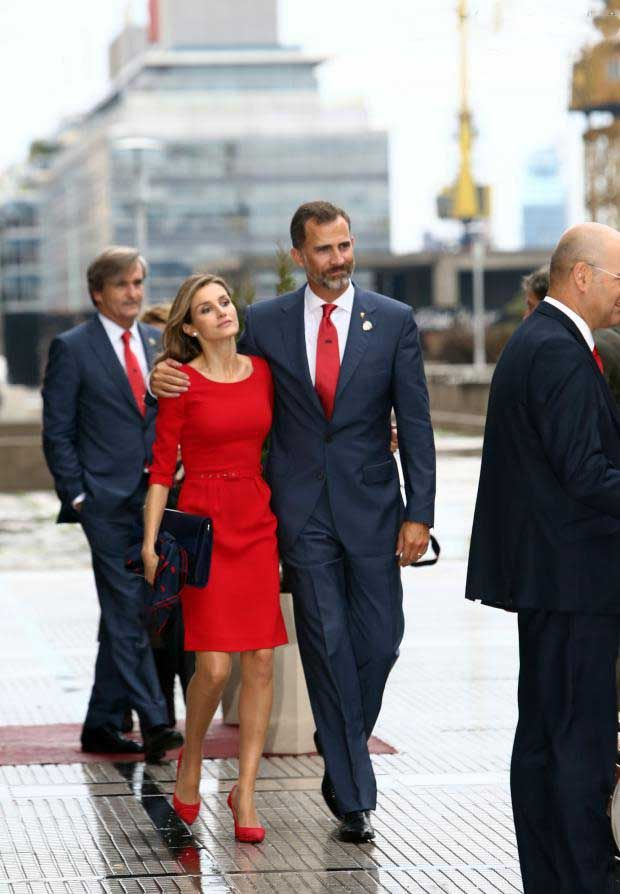 Prince Felipe and Princess Letizia of Spain emerged disappointed after the vote of the IOC allocating the 2020 Olympics in Tokyo, even if they managed to give a good image of their country, in Buenos Aires, Argentina on 7 Sep 2013
