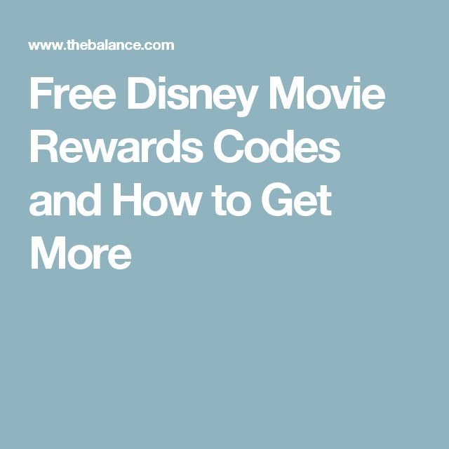 Free Disney Movie Rewards Codes and How to Get More
