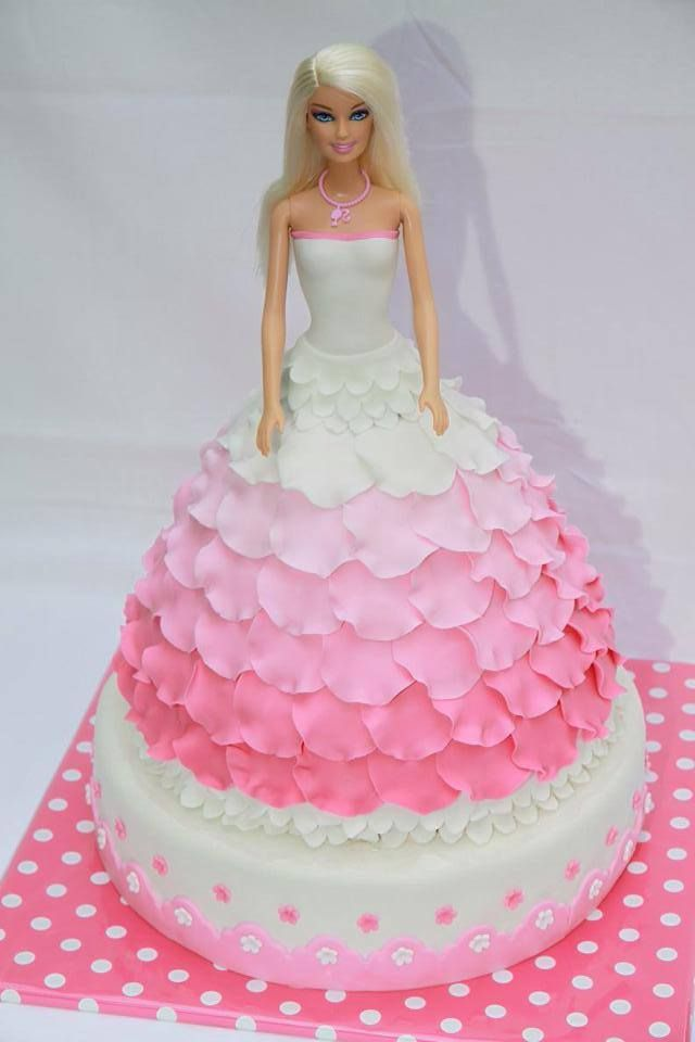 Tutorial Barbie cake
