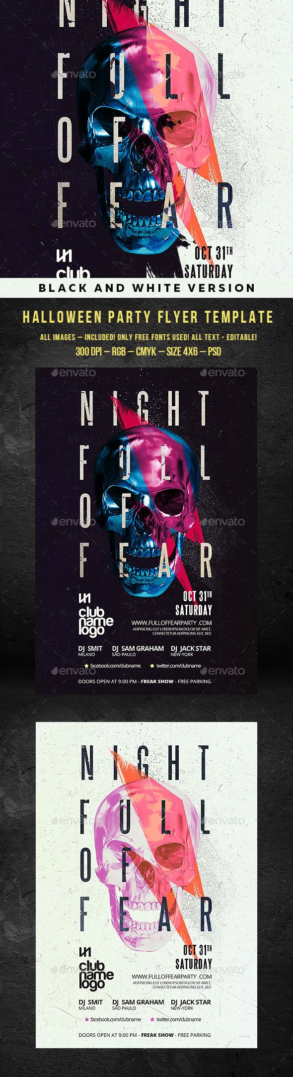 33 best Halloween Poster Templates images on Pinterest