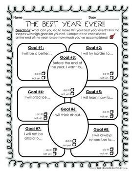 New Year, New Goals - New School Year & Goal Setting Activities!!!! Great for #BacktoSchool