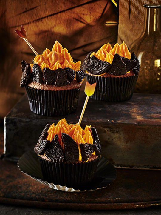 FIreball Chocolate Cupcakes | RecipesPlus