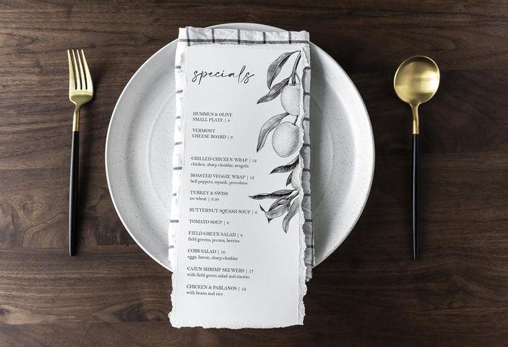 Editable Restaurant Menu Template Pdf Olive Menu Design Etsy In 2020 Restaurant Menu Template Menu Template Menu Restaurant