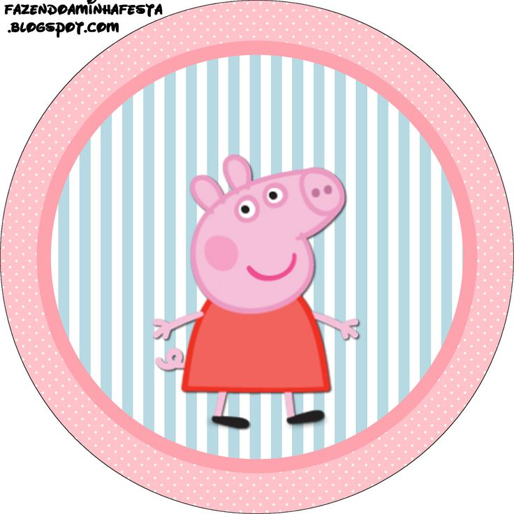Peppa Pig: Free Printable Labels and Toppers. - Is it for PARTIES? Is it FREE? Is it CUTE? Has QUALITY? It´s HERE! Oh My Fiesta!