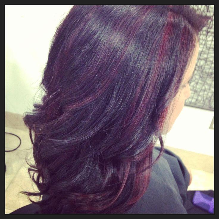 25 best ideas about purple peekaboo hair on pinterest peekaboo red violet highlights hair color amp highlights pinterest violet pmusecretfo Images